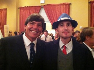 With Jarrad at the October 2012 First Tee 'Taste of Golf.'