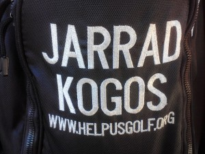 I learned to never give a man with his name on his bag strokes, just H.U.G. him...Help Us Golf...