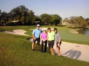 I enjoyed a great foursome at Bay Hill- two Canadians, me and a muffin!