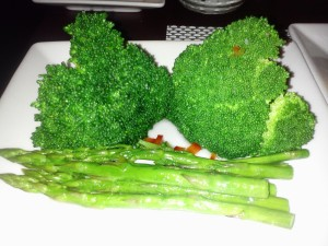 "Healthy ""double-greens"" at Bay Hill- broccoli and asparagus!"