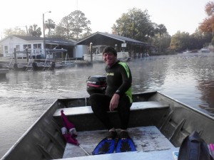 I missed the big boat so had to captain my own to get to the manatees!