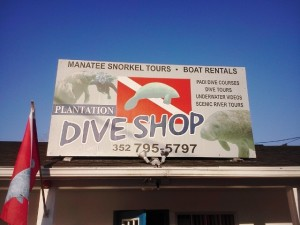 Everything is right there for you at Plantation on Crystal River. The DIVE Shop is next to the resort.