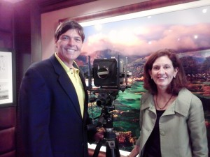 Andy Reistetter with Jeannine Henebry and the camera she and her brother use!