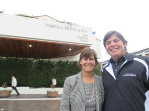 With Janine Chicourrat, General Manager of the Portola Hotel & Spa.