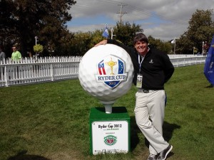 At Medinah having a ball with the 2012 Ryder Cup ball!