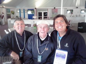 Three Amigos- Ed, Jack & me at the 2012 U.S. Open at The Olympic Club where Jack and Billy Casper were honored.