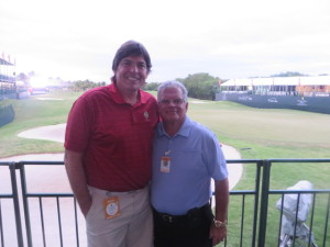 With Jorge Diaz,host of the Puerto Rico Open.
