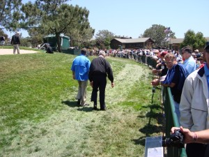 Jack and Ed walking side-by-side at the 2008 U.S. Open when I first met them.