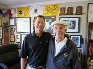 Jeremy Moe with Jack Fleck at Hardscrabble CC in October 2013.