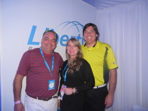 With Michele Maranges (Marketing & branding Director) and Gabriel Palerm (VP Sales, Media & Marketing) of Liberty Puerto Rico, a Liberty Global Company.