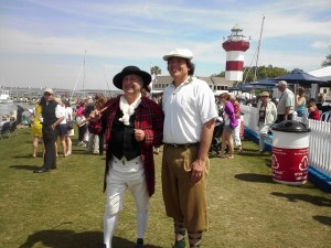 Mr. Hickory Golf with Sir Willie William, the mascot of the RBC Heritage.