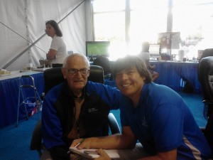 With Arnie Burdick at the 2012 RBC Heritage.