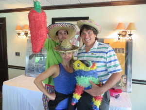 Celebrating Cinco de Mayo with Jarrad Kogos and Alena Gilley.