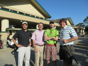 With Angelo Martinez, Russ Libby and Jarrad Kogos at Hidden Hills CC.