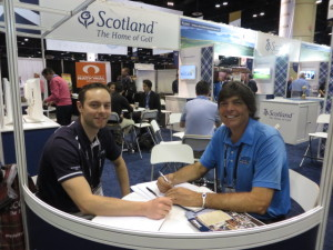 With David Connor, VisitScotland's Golf PR Manager. who would not want to be at Gleneagles for the 2014 Ryder Cup?