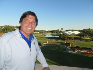 View of the 18th from the terrace of the Clubhouse, no better sense of TPC Sawgrass than here!