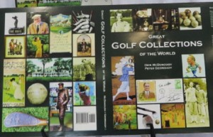 Opened dust jacket of Great Golf Collections of the World.