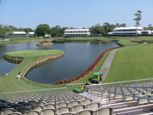 View of the 17th & 16th from the Sea Best Deck. The 18th is also visible from this, the best view at THE PLAYERS Championship.