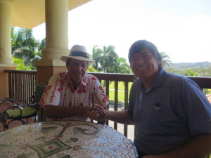 Shaking hands with the legend Chi Chi Rodriguez at Dorado Beach after our long interview!