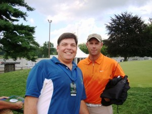 Pic with Stewart Cink.