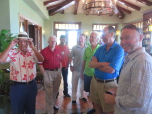 Chi Chi happened upon a visiting group and warmly welcomed them to Dorado Beach!