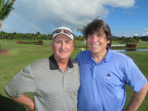 With Bobby Halinski, the Dancing Gringo of Puerto Rico's Golf Community!