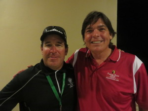With Brian Shaver celebrating Chesson Hadley's win at the 2014 Puerto Rico Open presented by SeePuertoRico.com