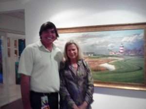 With Linda Hartough at the Karis Gallery on Hilton Head Island, South Carolina.