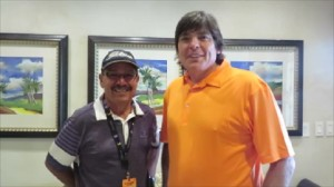 With Miguel 'Junior' Colon, Puerto Rico's veteran Golf Professional.