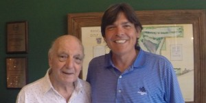 With Roberto De Vicenzo at Ranelagh Golf Club in Buenos Aires, Argentina on the 'Journey to Olympic Golf.'