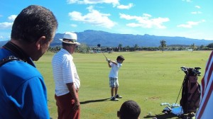 Chi Chi giving a kids clinic at the Puerto Rico Open in 2011.