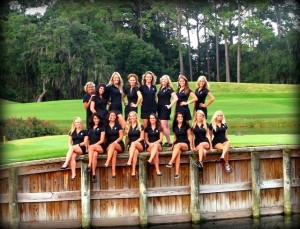 TPC Sawgrass Beverage Cart Attendant Team on the famous 17th island green.