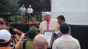 Governor (now United States Senator) presenting Jim Justice with West Virginia's highest honor, The Distinguished West Virginian Award.