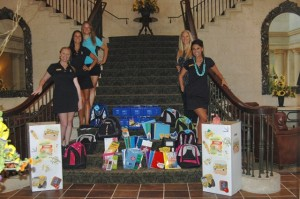 TPC Sawgrass Beverage Cart Attendants conducted a school supplies drive for the Daniel Kids.