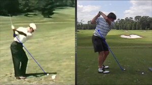 I was able to see my swing compared side-by-side to Ben Hogam, Peter Jacobsen and Matt Kuchar.